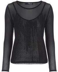 Jane Norman - Black Layered Foil Cami Top - Lyst