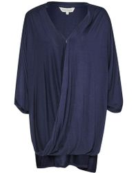Great Plains - Remix Jersey Wrap Over Blouse - Lyst