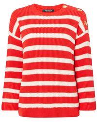 Lauren by Ralph Lauren - Majesky Three Quarter Sleeve Sweater - Lyst