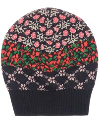 Benetton - Girls Floral Fairisle Bobble Hat - Lyst