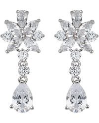 Mikey - London Cubic Daisy Lower Drop Earring - Lyst