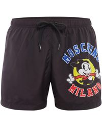 Moschino - Men's Large Logo Shorts - Lyst