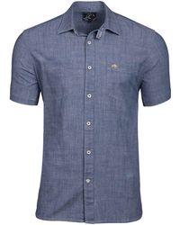 Raging Bull - Men's Short Sleeve Poplin Check Shirt - Lyst