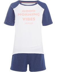 Tommy Hilfiger - Good Morning Vibes Short Set - Lyst