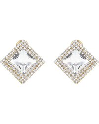 Mikey - Square Stone Marquise Earring - Lyst