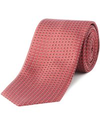 HUGO - Textured Diamond Tie - Lyst