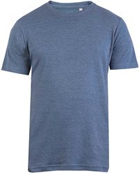 Double Two - Plain Marl Ribbed Neck T-shirt - Lyst