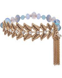 Lonna & Lilly - Fallen Leaves Beaded Tassle Bracelet - Lyst