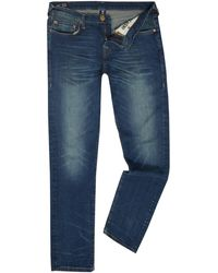 True Religion - Geno Dusty Rider Mid Wash Tapered Jeans - Lyst