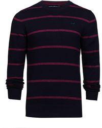 Raging Bull - Men's Crew Neck Striped Sweater - Lyst