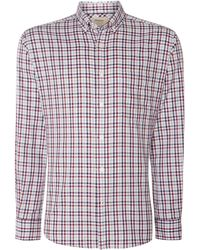 Tm Lewin - Men's Country Check Slim Fit Long Sleeve Shirt - Lyst