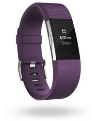 Fitbit - Charge 2 Plum & Silver - Lyst