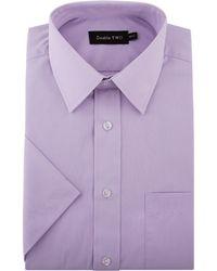 Double Two - Non Iron Poplin Short-sleeve Shirt - Lyst