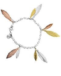 Azendi - Multi Feather Bracelet - Lyst