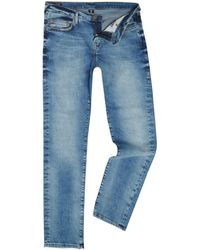 True Religion - Geno Desert Well Light Wash Tapered Jeans - Lyst