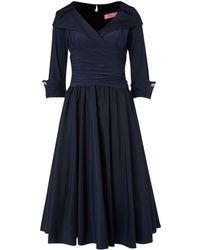 Eliza J   34 Sleeve Ruched Waist Dress   Lyst