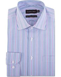 Double Two - Tonal Striped Formal Shirt - Lyst