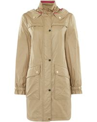 Eliza J - Hooded Parka Coat With Drawstring Waist - Lyst