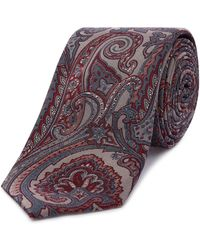 Ted Baker - Large Paisley Tie - Lyst