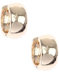Nine West | Classic Gold Hoop Earrings | Lyst