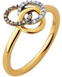 Links of London - Treasured Champagne & White Diamond Ring - Lyst