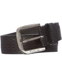 Replay   Douglas Leather Belt   Lyst