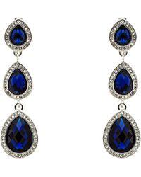 Monet - Silver Montana Teardrop Clip Earrings - Lyst
