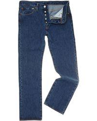 Levi's - 501 Stonewash Straight Jeans - Lyst