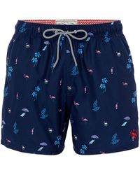 Ted Baker - Men's Gutsy Tropical Print Swim Shorts - Lyst