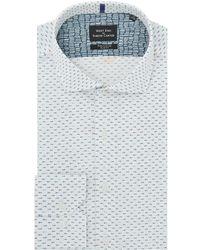 Simon Carter   Men's Mini Fish Print Shirt   Lyst