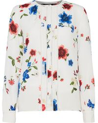 Ellen Tracy - Floral Blouse With Piping - Lyst