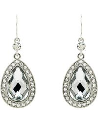 Monet - Crystal Teardrop Hook Earrings - Lyst