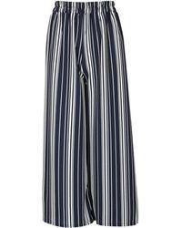Izabel London - Striped Wide Trousers - Lyst