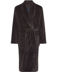 Howick - Classic Charcoal Marl Fleece Dressing Gown - Lyst