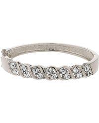Mikey | Zig Zag Design Crystal Cuff Bracelet | Lyst