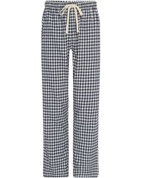 Howick - Gingham Brushed Cotton Pj Pant - Lyst