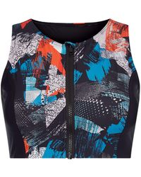 Label Lab - Gym & Swim Technical Glitch Highneck Bikini Top - Lyst