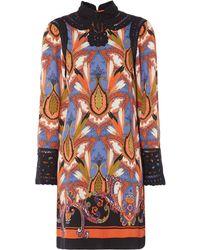Biba - Printed Battenburg Dress - Lyst