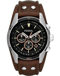 Fossil - Ch2891 Coachman Brown Leather Mens Watch - Lyst