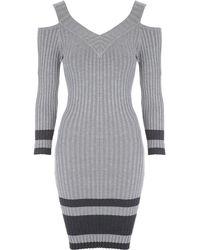 Jane Norman - Cold Shoulder Jumper Dress - Lyst