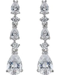 Mikey - London Oblong Cubic Square Stem Drop Earrin - Lyst