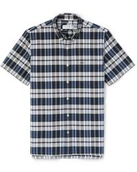 Lacoste | Men's Regular Fit Colored Check Cotton Oxford Shirt | Lyst