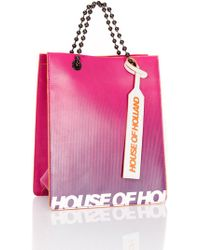 House of Holland - Bright Print Mini Tote Bag - Lyst