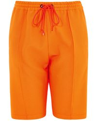 House of Holland - Bright Tracksuit Shorts (neon Orange) - Lyst