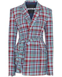 House of Holland - Blue Tartan Tailored Suit Jacket - Lyst