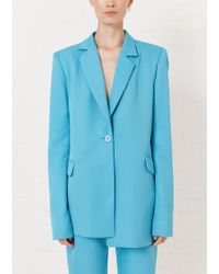 House of Holland - Turquoise Tailored Suit Jacket - Lyst