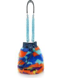 House of Holland | Mini Faux-Fur Bucket Bag | Lyst