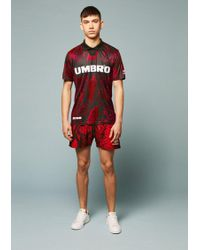 House of Holland - Umbro Snake Print Swim Shorts (red) - Lyst