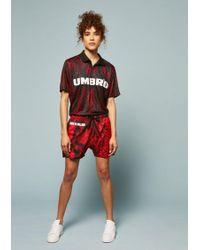 House of Holland - Umbro Snake Print Swim Shorts (red) - Lyst