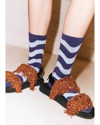 House of Holland Wavy Dark & Light Blue Socks